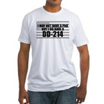 American Flag DD214 Fitted T-Shirt