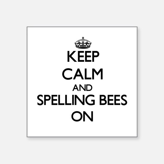 "Funny Spelling Square Sticker 3"" x 3"""