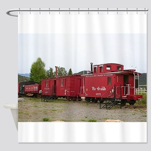 Steam train carriage accommodation, Shower Curtain