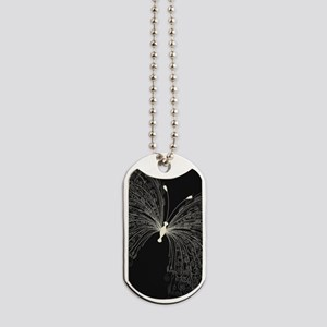 Elegant Butterfly Dog Tags