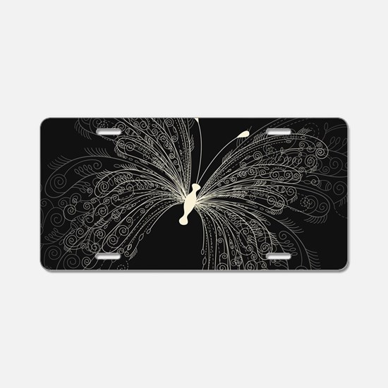 Elegant Butterfly Aluminum License Plate