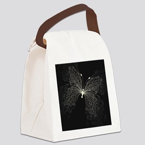 Elegant Butterfly Canvas Lunch Bag