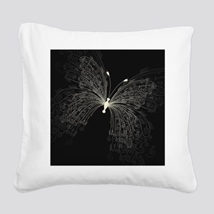 Elegant Butterfly Square Canvas Pillow