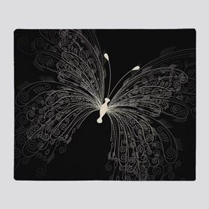 Elegant Butterfly Throw Blanket