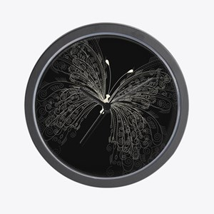 Elegant Butterfly Wall Clock