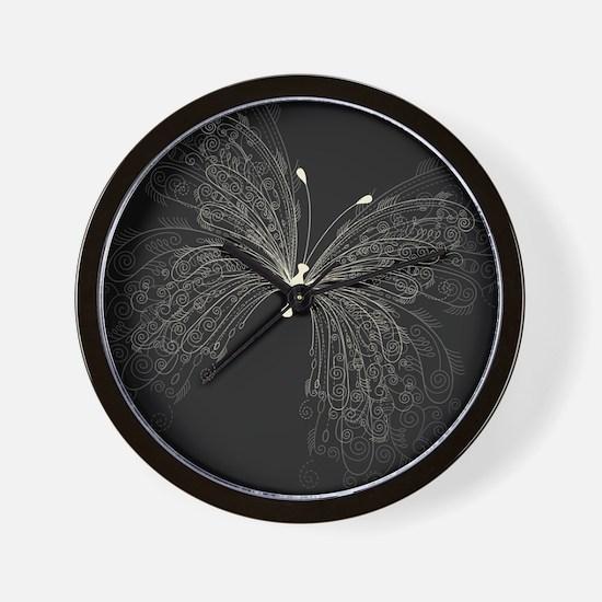 Elegant Butterfly Wall Clock