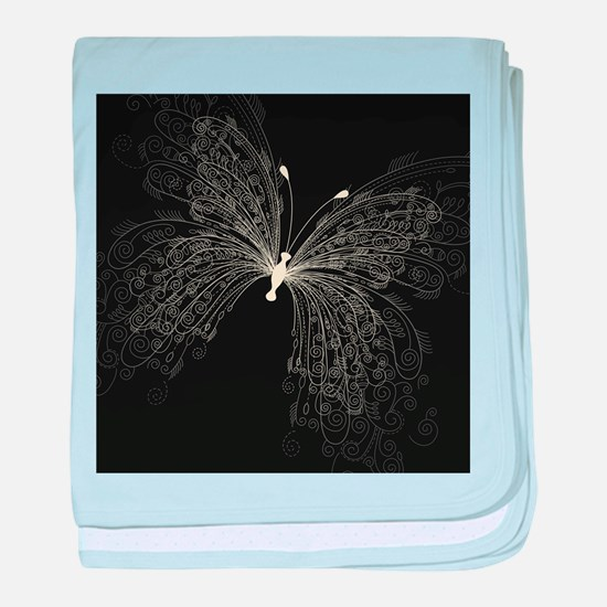 Elegant Butterfly baby blanket