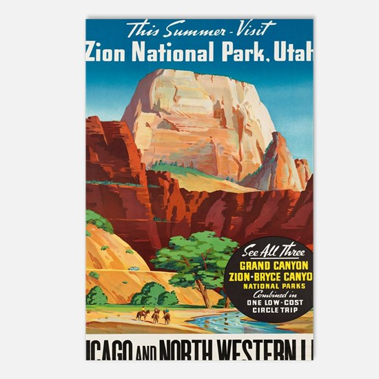 Unique National parks bryce canyons Postcards (Package of 8)