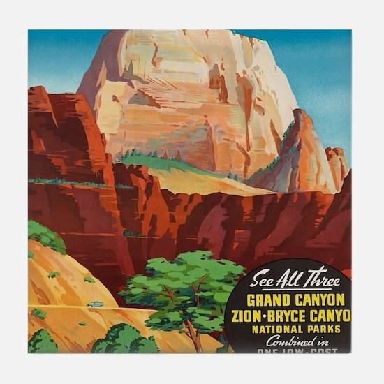 Cool National vintage Tile Coaster
