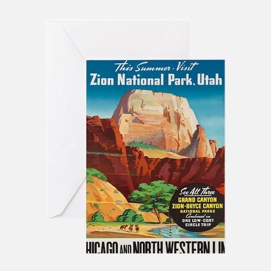 Unique Vintage national parks Greeting Card