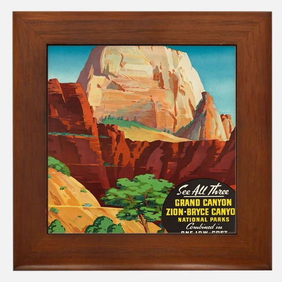 Unique Bryce canyon national park Framed Tile