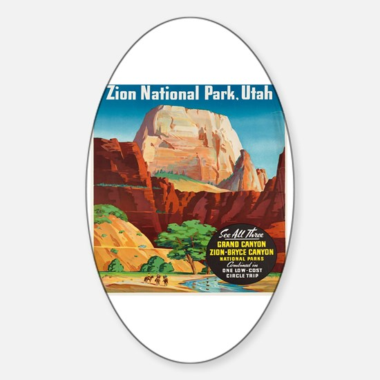 Cool Vintage advertisement Sticker (Oval)