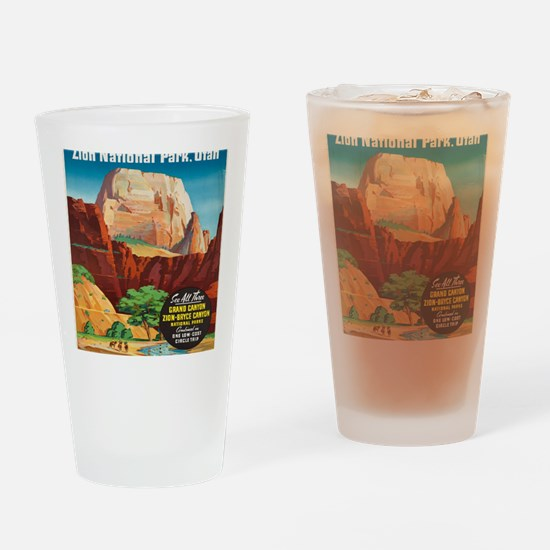 Cute Bryce canyon Drinking Glass