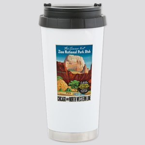Vintage poster - Zion N Stainless Steel Travel Mug