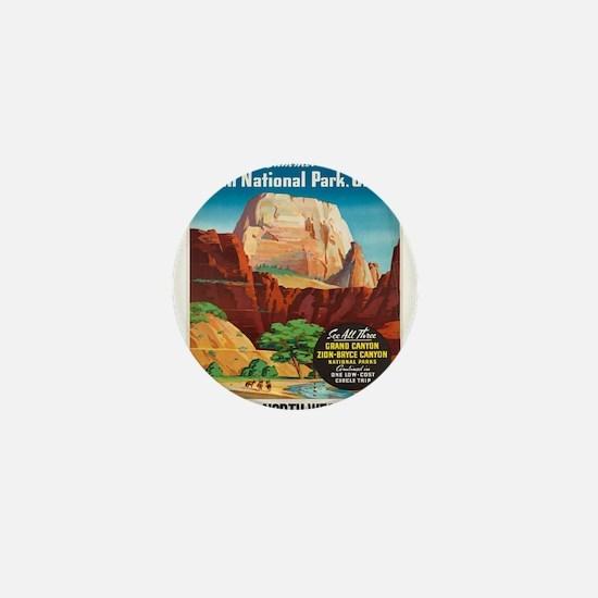 Vintage poster - Zion National Park Mini Button