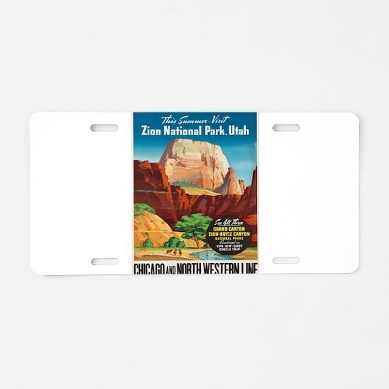 Vintage poster - Zion Natio Aluminum License Plate