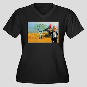 Mint Julip (Beach) Plus Size T-Shirt