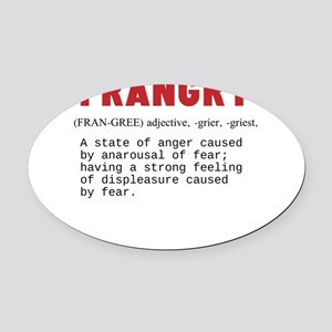 FRANGRY Oval Car Magnet