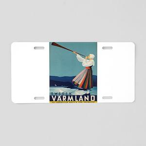 Vintage poster - Sweden Aluminum License Plate