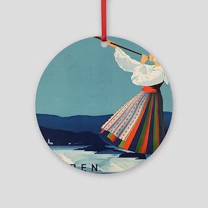 Vintage poster - Sweden Round Ornament