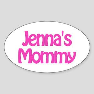Jenna's Mommy Oval Sticker