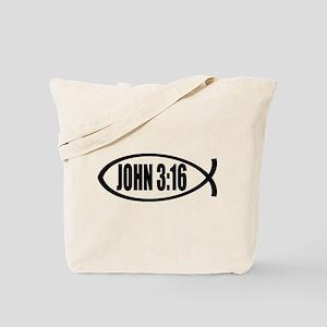 Christian Fish John 3:16 Tote Bag