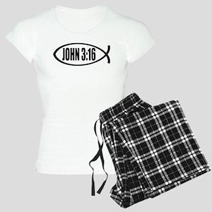 Christian Fish John 3:16 Women's Light Pajamas