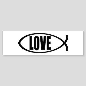 Christian Fish Love Sticker (Bumper)