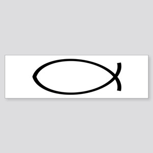 Christian Fish Sticker (Bumper)