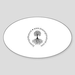 DownrightNatural Logo Sticker