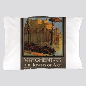 Vintage poster - Ghent Pillow Case
