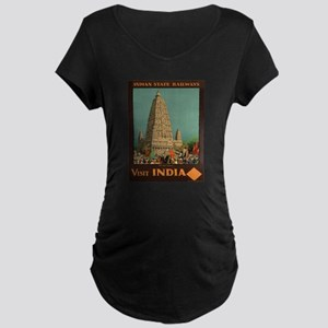 Vintage poster - India Maternity T-Shirt