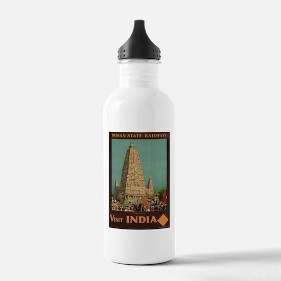 Vintage poster - India Water Bottle
