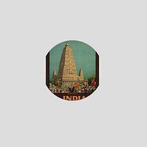 Vintage poster - India Mini Button