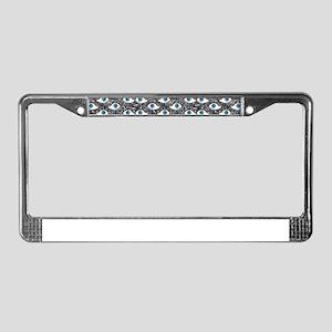 glitter eyes License Plate Frame