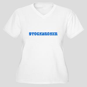 Stockbroker Blue Bold Design Plus Size T-Shirt