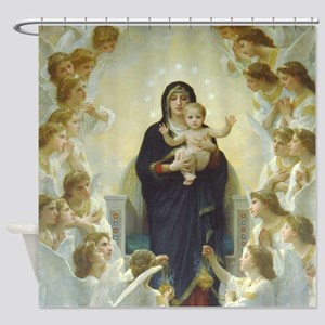 Mary Mother Of God Holding Jesus Shower Curtain