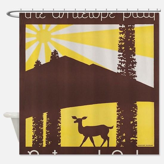 Cute Antelope sunset Shower Curtain