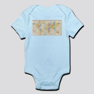 World Time Zone Map Body Suit