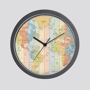 Time zone wall clocks cafepress world time zone map wall clock gumiabroncs Gallery