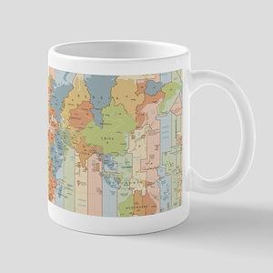 World Time Zone Map Mugs