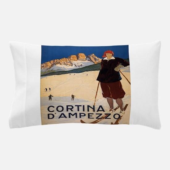 Vintage poster - Cortina d'Amprezzo Pillow Case