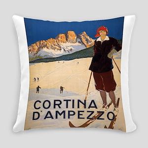 Vintage poster - Cortina d'Amprezz Everyday Pillow