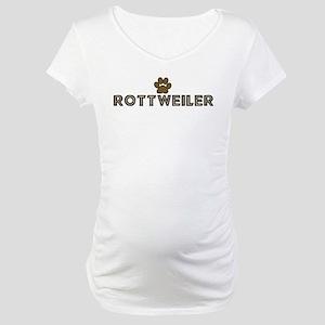 Rottweiler (dog paw) Maternity T-Shirt