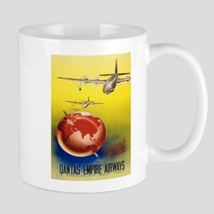 Vintage poster - Qantas Mugs