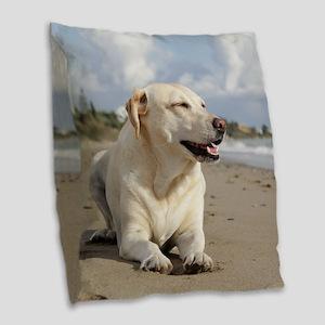 BEACH DOGS Burlap Throw Pillow