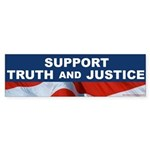 SUPPORT TRUTH and JUSTICE Bumper Sticker