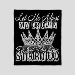 Adjust My Crown Throw Blanket