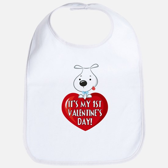 Puppy Dog 1st Valentine's Day Bib