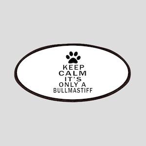 Bullmastiff Keep Calm Designs Patch